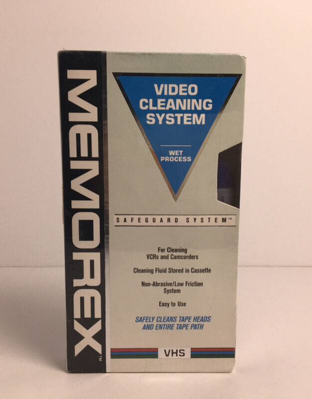Sealed Memorex Video Cleaning System Wet Process for VCRs & Camcorders