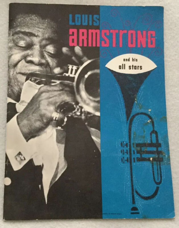 Autographed/Signed Louis Armstrong And His All Stars Program