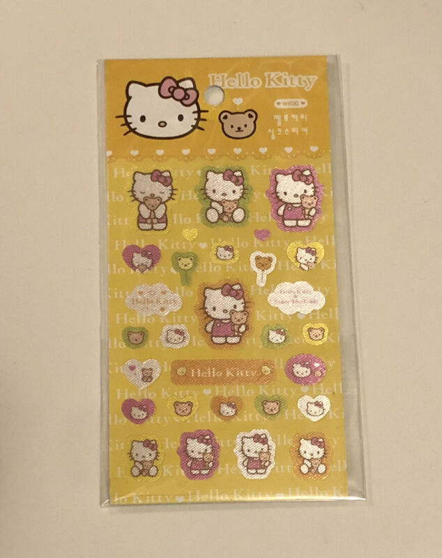 Sanrio Hello Kitty Mini Fabric Sticker Sheet Stationary