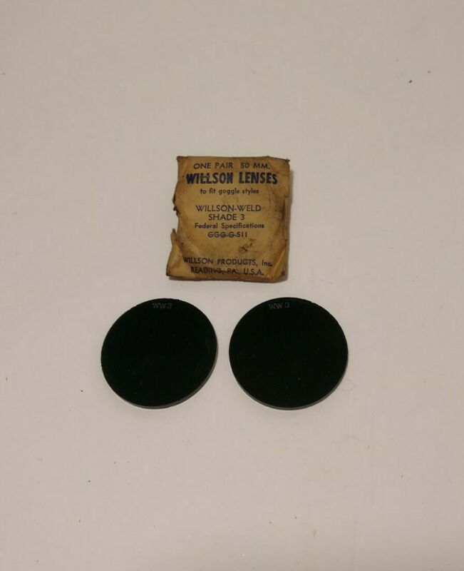 Vintage Willson Welding Lenses 50 MM. Shade 3 NOS Open Package