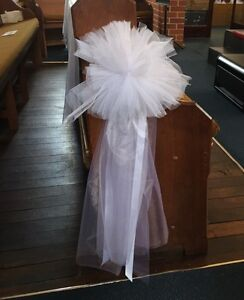 Wedding church pew decorations Ashby Wanneroo Area Preview