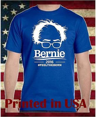 Bernie Sanders  For President 2016 Election Campaign T Shirt Feel The Bern Shirt