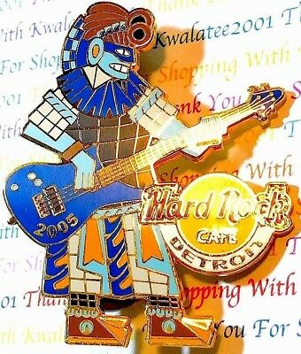 Hard Rock Cafe 2005 Detroit Cinco De Mayo Aztec Playing Guitar Pin New LE