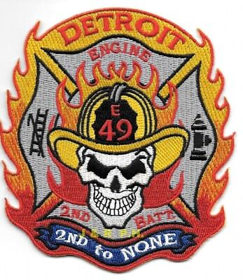 """*NEW* Detroit  Engine - 49 / B-2  """"2nd to None"""", MI (4"""" x 4.5"""" size) fire patch"""