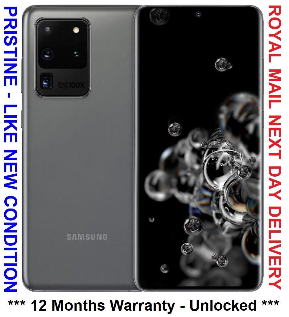 Android Phone - SAMSUNG GALAXY S20 ULTRA SM-G988B/DS 128GB COSMIC GREY SIM FREE UK PHONE