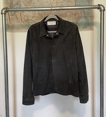 officine generale suede coach's jacket grey suede large