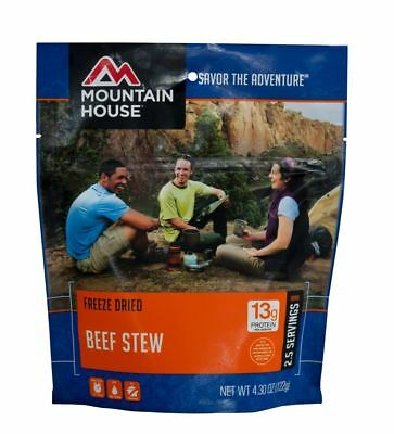 1 - Mountain House Freeze Dried Food Pouch - Beef Stew - Fresh