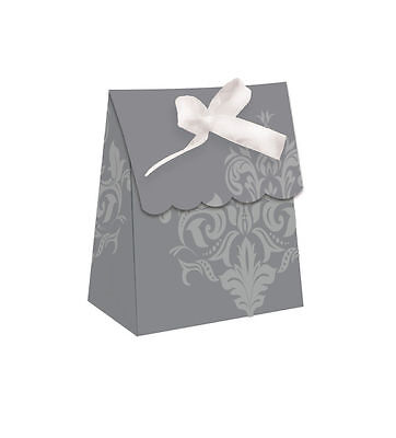 y FAVOUR BAGS Silver Wedding Party Table Favours Treat Bags (25th Wedding Anniversary Favors)