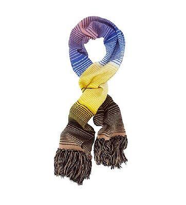 Missoni Women's Mens Multi Color Striped Wool Fringe Winter Fashion Scarf