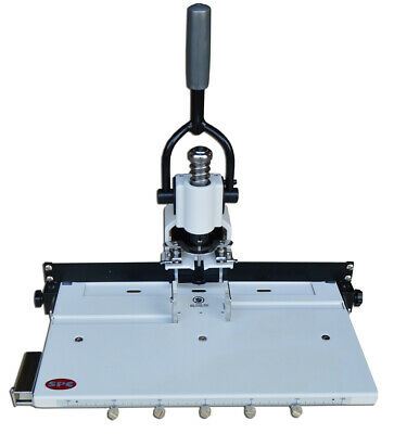 Paper Hole Drill Punch Machine 14 6mm Hole 300 Sheets With Moving Table