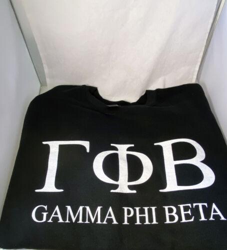 Gamma Phi Beta Sorority Crewneck Sweatshirt- Black- Size XL-New!