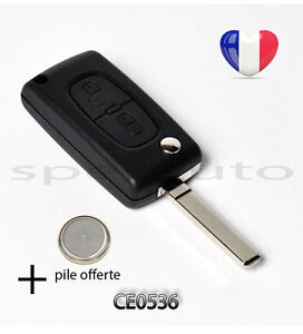 plip coque cl peugeot 107 207 307 308 sw 407 807 partner expert 2 btons ce0536 ebay. Black Bedroom Furniture Sets. Home Design Ideas