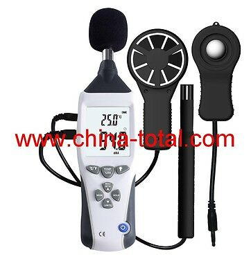5 In 1 Multifunctional Meter Lux Sound Humidity Temp. Air Velocity Anemometer