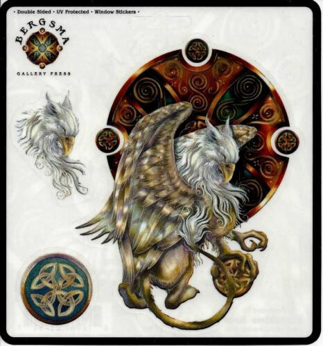 COURAGE INSIDE US Griffin & Celtic Symbol Sticker Car Decal Jody Bergsma
