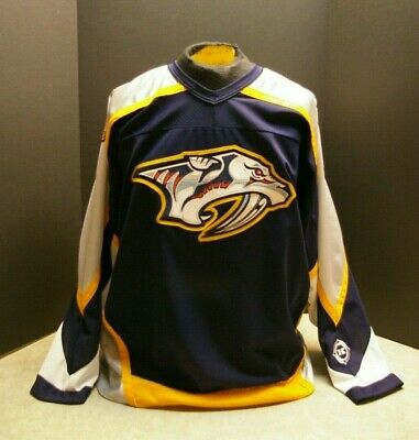VINTAGE NHL KOHO NASHVILLE PREDATORS AIR-KNIT HOCKEY JERSEY ADULT SIZE LARGE, used for sale  Kanata