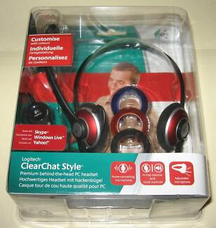 Logitech Premium Behind-the-Head PC Headset/ Clear Chat Style/New