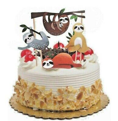 Happy Birthday Faultier Set Cake Geburtstag Topper Torten Stecker Kuchen Deko
