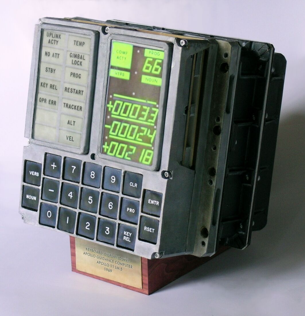 DSKY (DISPLAY KEYBOARD) APOLLO GUIDANCE COMPUTER CRAFT MODEL (LM-5\'s ...