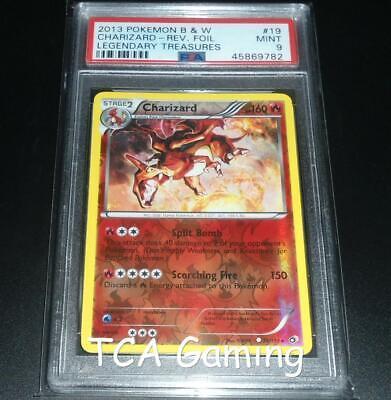 PSA 9 MINT Charizard 19/113 BW Legendary Treasures REVERSE HOLO Pokemon Card