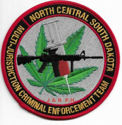 "North Central SD Criminal Enforcement (4.5"" round) shoulder police patch (fire)"