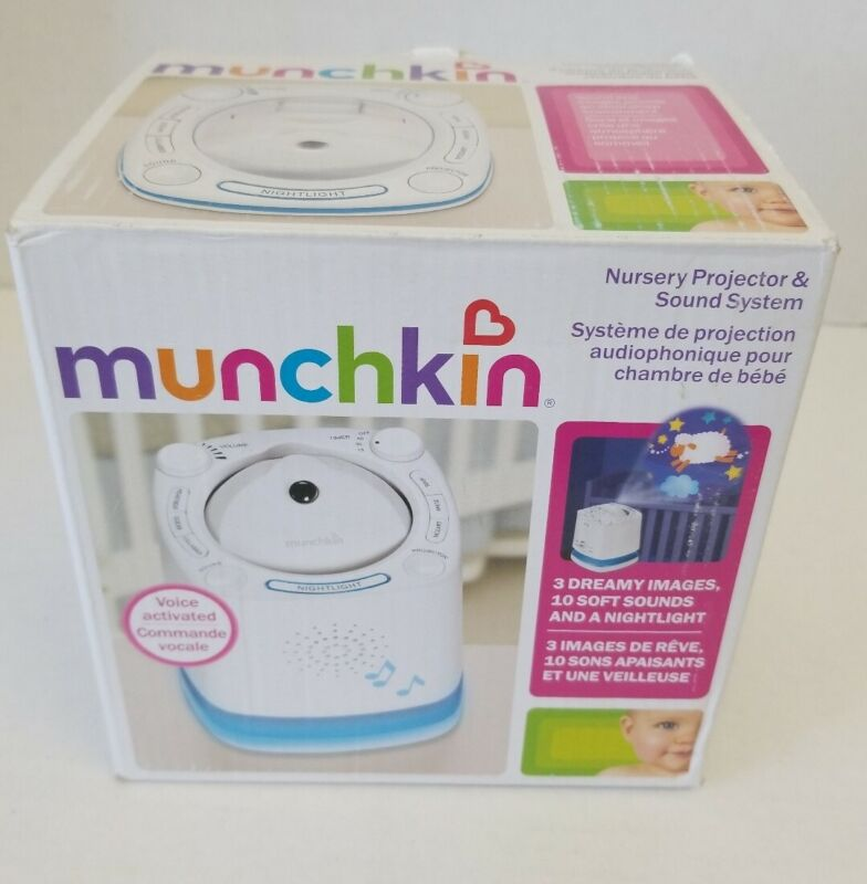 Munchkin Nursery Projector and Sound System, White -Works Great-