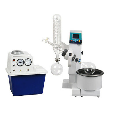 2l Rotary Evaporator Motor Lifting Turnkey Package W Water Vacuum Pump