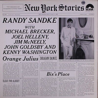 RANDY SANDKE-NEW YORK STORIES LP-STASH RECORDS-JAZZ MUSIC SEALED MINT CONDITION