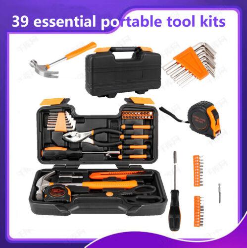 39 Pcs Tool Kit Orange Maintenance Essential Portable Tool Kit  Good Quality New