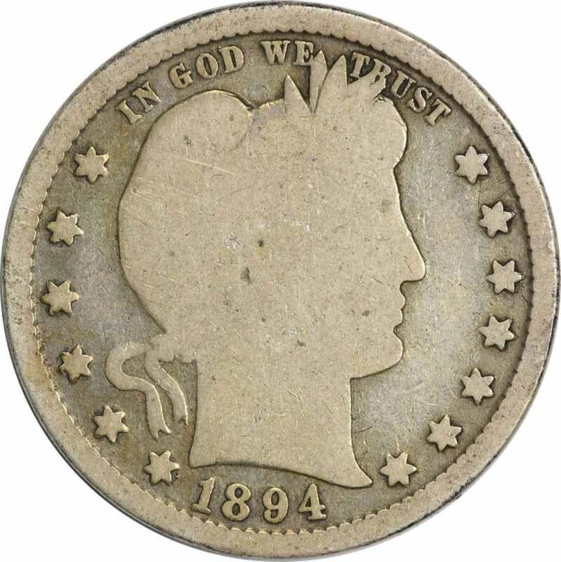 1894-S Barber Silver Quarter G Uncertified