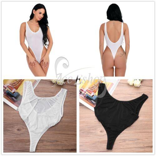 c1e319d90c58b Sexy Women's One Piece Swimwear Bikini Swimsuit Leotard High Cut Thong  BodysuitGBP 1.65