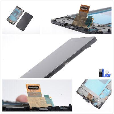 Für LG X Power K220 Display LCD Touchscreen Digitizer Rahmen schwarz Werkzeug ()
