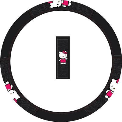 New HELLO KITTY Core Bowtie Steering Wheel Cover for Auto Car Truck Suv Van gebraucht kaufen  Versand nach Germany