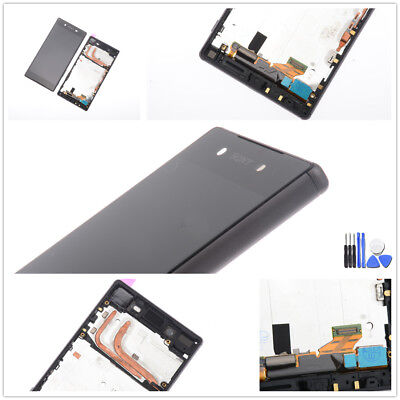 Für Sony Xperia Z5 E6603 E6653 Display LCD Touchscreen Digitizer Rahmen schwarz ()