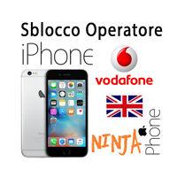 Service Sblocco Operatore Unlock All Clean Iphone Vodafone Uk Inghilterra - vodafone - ebay.it