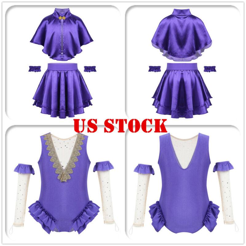 US Toddler Kids Girls Costume Party Circus Ringmaster Cosplay Fancy Dress Up Set