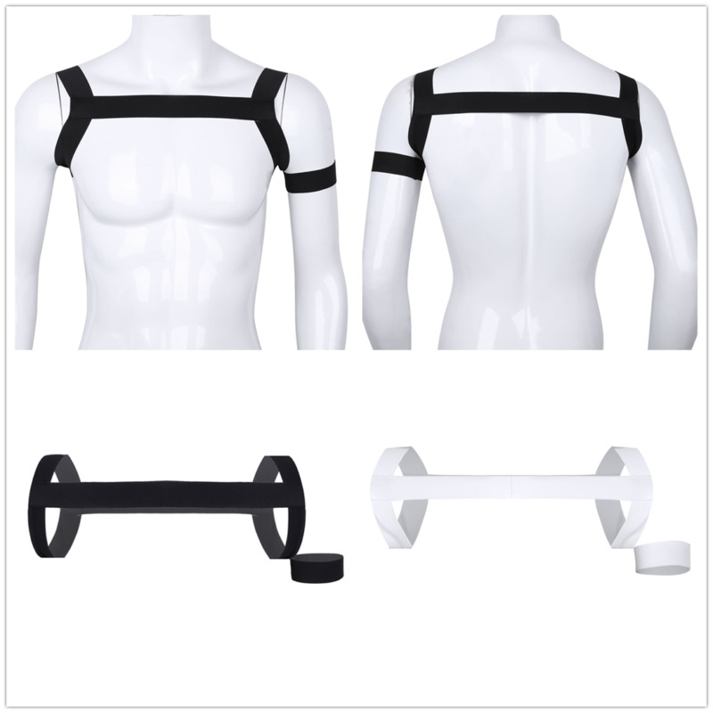 Men High Elastic Body Chest Harness Clubwear Muscle Support Brace Costume Strap
