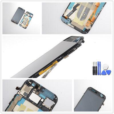 Für HTC One M8 Display LCD Touchscreen Digitizer Rahmen Schwarz inkl. Werkzeug ()