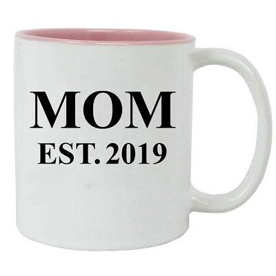 Mom Established EST. 2019 11-Ounce Ceramic White Coffee Mug