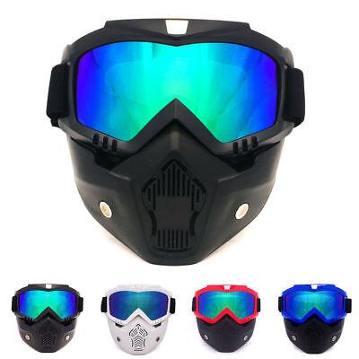 Motorcycle Face Shield Mask Goggles Motocross MX ATV Dirt Bike Glasses (Motorcycle Eyewear)