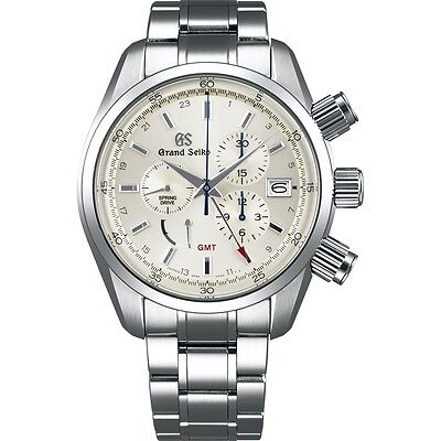 New Grand Seiko Spring Drive Chronograph Men's Stainless Steel Watch SBGC201