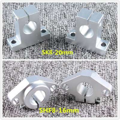 Sk8-20 Shf8-16mm Chrome Linear Rail Shaft Guide Support Bearing Bracket Cnc Part