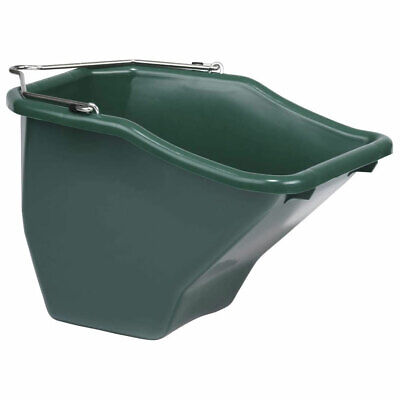 Little Giant 20-quart Durable Plastic Flat Back Livestock Feed Bucket Green