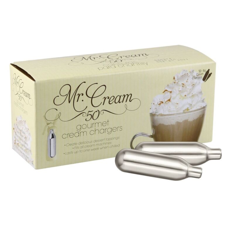 200 Mr. Cream Whip Cream Chargers for Fresh whipped cream