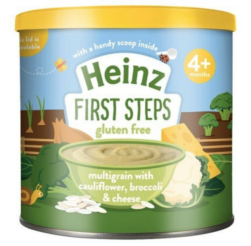 Heinz First Steps Multigrain Cauliflower Broccoli Cheese 200g: From UK