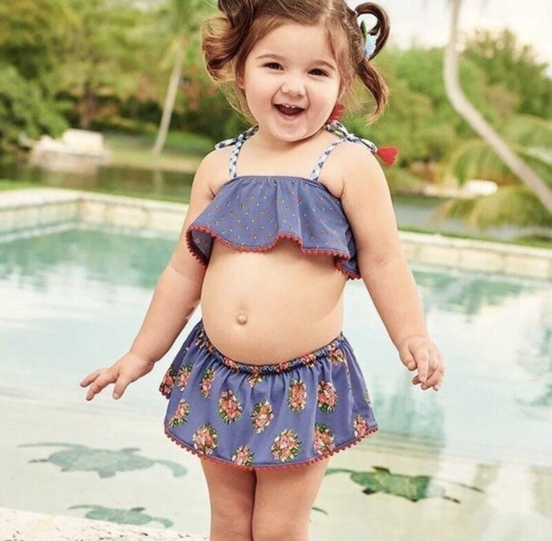 NWT Matilda Jane BABY Little Guppy 6-12 month swimsuit Set NWT