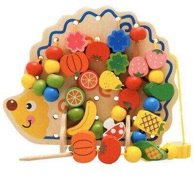Best Children Wood Toy Lacing Stringing Beads    Gift For 1 2 3 4 5 Years