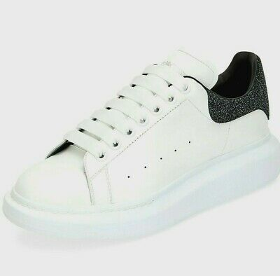 Alexander McQueen Mens Larry Colorblock Glitter Platform Sneakers EU 41/M 8/W 11