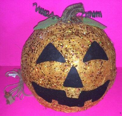 """Light Up Pumpkins (Halloween Sisal Sequin Light-Up 12"""" Jack-O-Lantern)"""