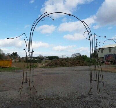 Arch Archway Garden Steel Gateway Rose Organic Whimsical Bare Metal Pathway Path