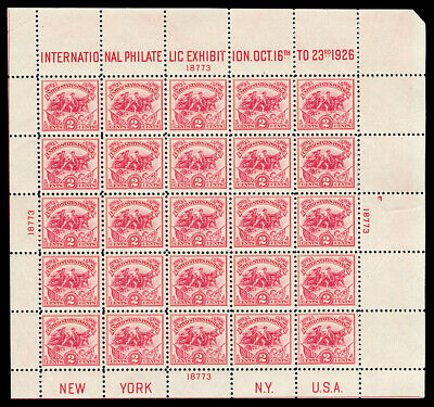 Scott 630 1926 2c White Plains Issue Mint Sheet of 25 F-VF OG NH Cat $500